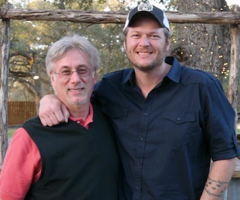 (L-R) Charlie Cook and Blake Shelton.