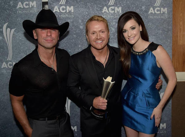 (L-R) Kenny Chesney, Shane McAnally and Kacey Musgraves at the ACM Honors Awards.